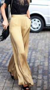 Gold Palazzo Pant Pictures
