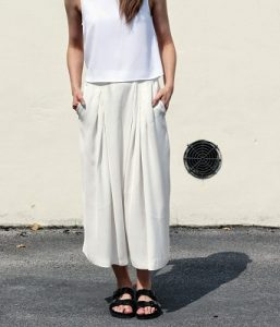 Images of Cropped Palazzo Pants