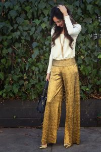 Images of Gold Palazzo Pant