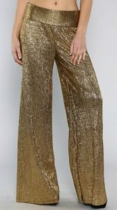 Pictures of Gold Palazzo Pant